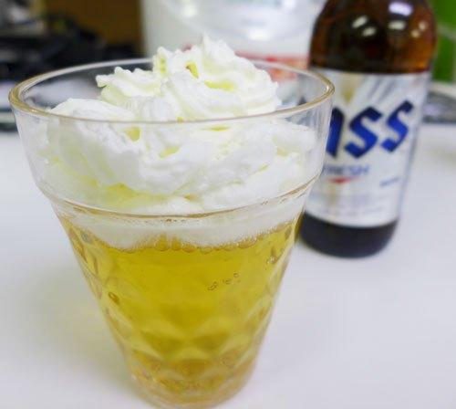 Lo nuevo en Corea y Japón; Cerveza con Nata